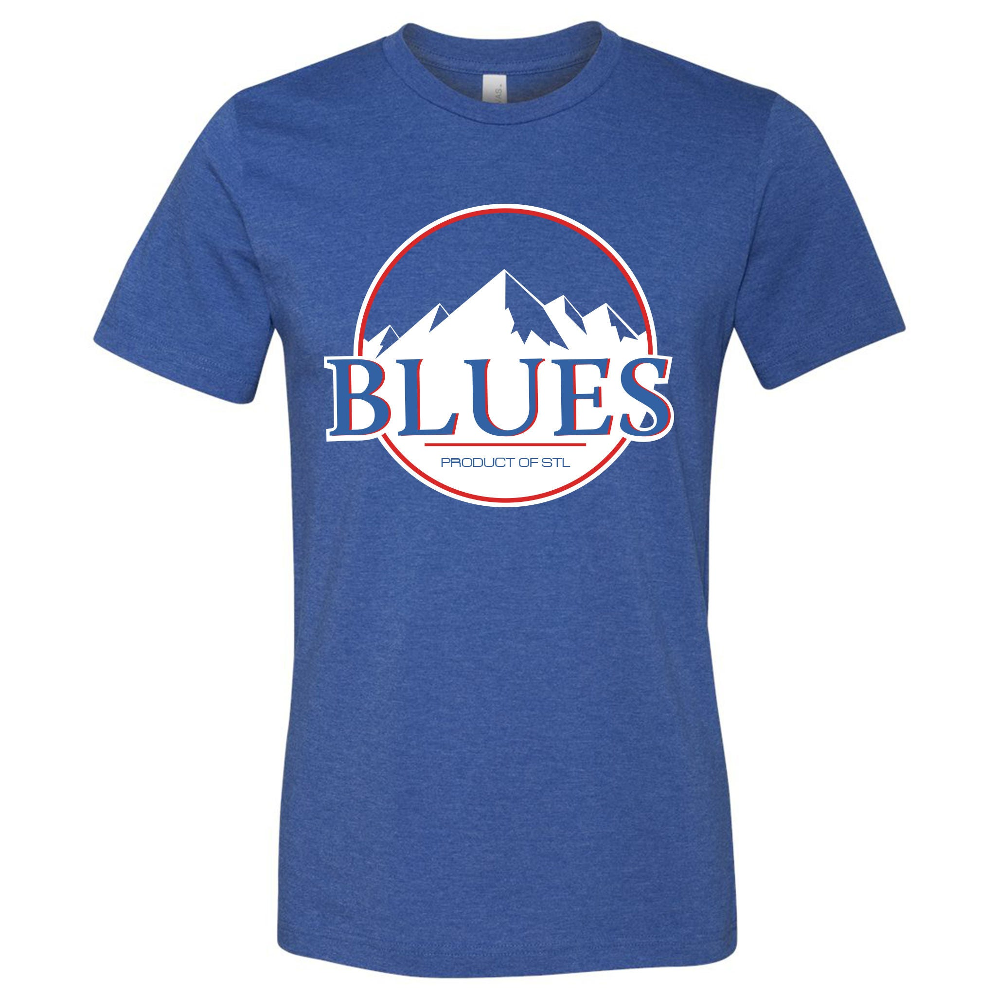 St. Louis Blues Hockey Mountains Short Sleeve Heather Royal
