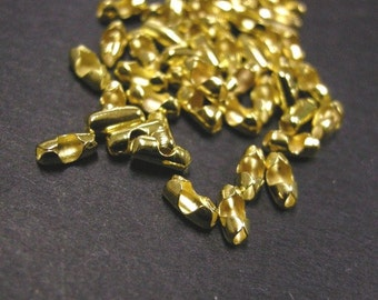 50pc gold color ball chain connectors for 2-2.5mm ball chain-4671