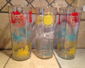 3 Red, Yellow, and Aqua Seasons Tumblers