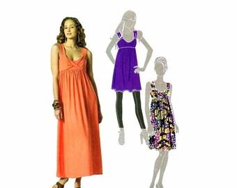 SALE Misses Front Drape Tunic Dress McCalls 6072 Sewing Pattern Size 6-8-10-12-14 Bust 30 1/2 - 31 1/2 - 32 1/2 - 34 - 36 UNCUT