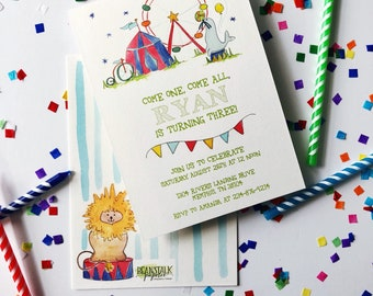 Circus Birthday Invite