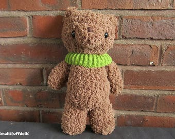 Fluffy Teddy Bear IN STOCK x Amigurumi Bear Teddy Bear Crochet Bear Plushie Toy Bear