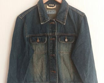 Vintage Blue Denim Trucker Jean Jacket Size Large