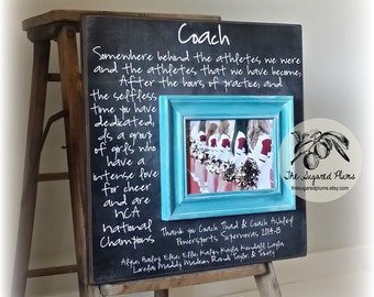 Coach Gift, Coach Frame, Soccer Coach, Basketball Coach, Dance Team, Football Coach, Cheer leading, Cheer Coach, Coach Thank you, 16x16
