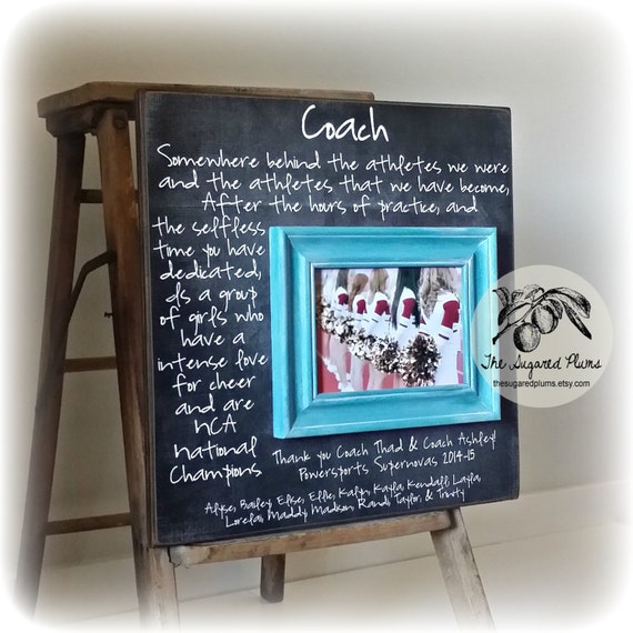 Custom Coach Picture Frame Gift, Cheer Coach Gift, Soccer, Sports ...