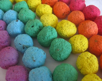 30 Rainbow seed bombs- 6 color combo