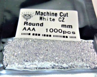 White Clear Round Brilliant Cut SIZE CHOICE Loose Cubic Zirconia Stones WHOLESALE