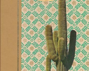 Cactus & Moon Vintage Bookcover Collage-Original Art