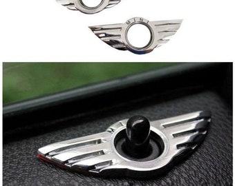 Mini cooper doorlock decor badge cooper s mini interior wings doorlock decor