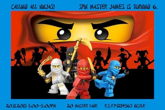 12 lego ninjago personnalis des cartes dinvitation - Carte ninjago ...
