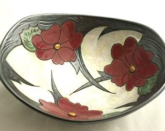Ceramic bowl, Pottery Bowl, Stoneware Bowl, Large Fruit Bowl, Handmade Pottery Bowl, Serving Dish, Salad bowl, Mother's day gift, Flower