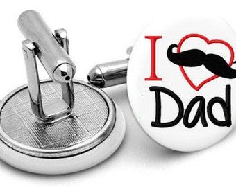 I love  you daddy cufflinks ..fathers day .