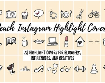 28 Peach Instagram Story Highlight Cover Icons for Bloggers, Influencers, and Creatives