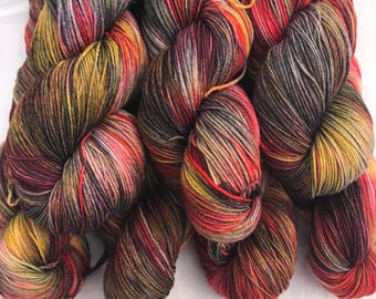 Indian Giant Squirrel - Superwash Blue Faced Leicester 4 Ply 100g