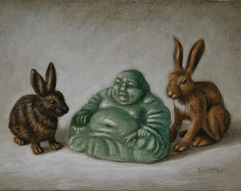 Buddha and rabbits