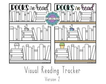 PRINTABLE Bookshelf: Visual Reading Tracker v.2