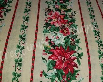 Poinsettia Christmas Fabric