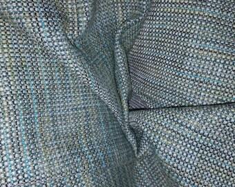 AQUA CHARCOAL CREAM Tweed Woven Upholstery Fabric by the yard, 16-17-24-0316