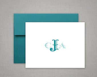 Monogrammed Personalized Stationery - Thank You Notes - Gift Set - Personalized Stationary