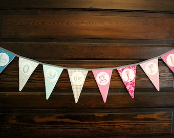 Gender Reveal Party Banner or Baby Shower Decoration