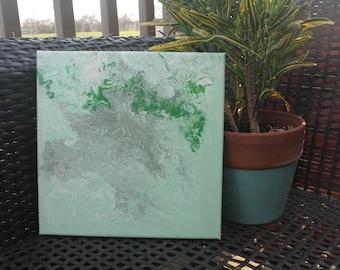 """Mist - 10x10"""" Acrylic Pour Painting"""