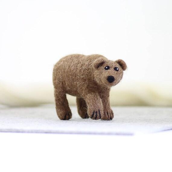 Grizzly Bear-Nadel-Filzen-Kit Nadel gefilzt Tier Filzen mit
