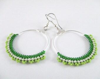 Green Dazzling Hoops
