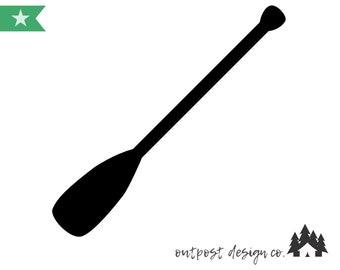 Paddle/Oar - Digital Cut File for Silhouette or Cricut - SVG