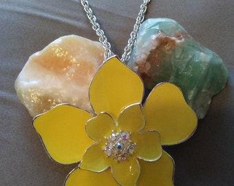 Bright & Cheery Yellow Daisy Necklace