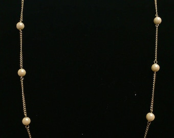 Vintage Sarah Coventry Gold necklace with Pearls 013