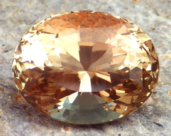 Peach-Walnut Schiller Oregon sunstone 6.43 Ct Flawless-Precision Faceting-For Beautiful Jewelry!