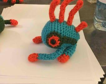 Crochet Murloc Plush Amigurumi Blizzard World of Warcraft
