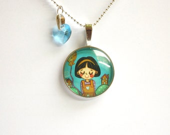 Little girl jewelry Little girl necklace Girls birthday gift Fairy tale necklace Fairy tale jewelry Fairytale necklace Fairytale jewelry