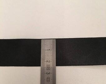 Black 50mm Polyester Ribbon