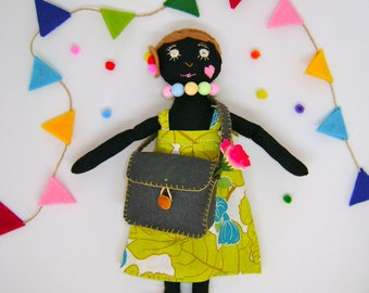 Maya doll, rag doll, hand made doll, baby shower gift