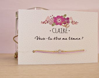 bracelet veux tu etre ma temoin
