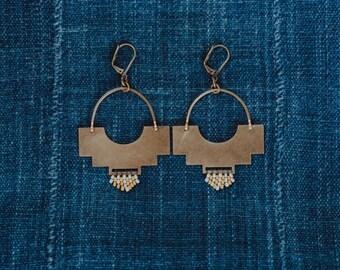Terra Shield  Earrings