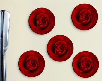 Red Roses Magnets - Valentine's Day, Sweetest, Valentines, Bouquet, Flowers, Red, Dozen, Love, Rose Bush, Lust, Wedding, Mother's Day