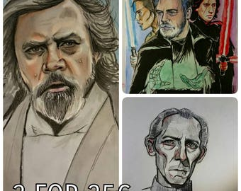 SALES! Lot of Old Luke, Tarkin and The Last Jedi.