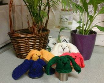 Funny Bunny Easter egg cosies