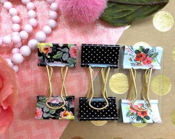 Anna Griffin Grace Black Collection Binder Clips *Brand New*