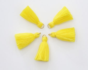5 Mini Yellow Cotton Threads DIY Jewelry Making