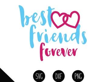 Best Friends svg, best friends dxf, best friends png, best friends iron on, best friends clipart, best friends cut file, best friends svg