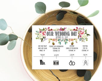 Best Day Ever printable Wedding Itinerary welcome wedding itinerary for destination wedding diy wedding schedule, printable wedding timeline