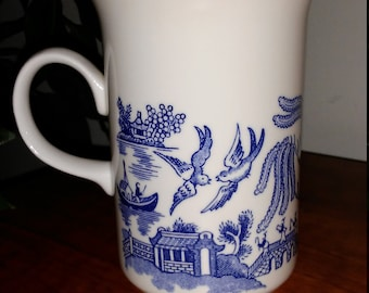 Vintage Johnson Brothers Willow Blue Mug/Cup
