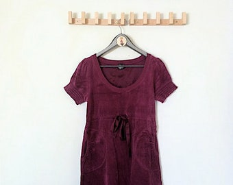 Velvet Burgrundy Dress (with pockets!!)