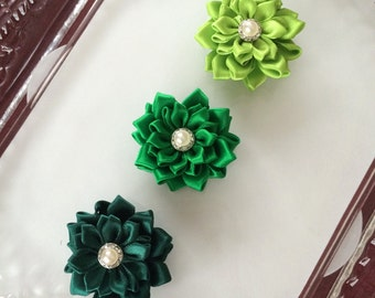Ribbon flowers,hair flower,headband flower,baby headband flower,hair clip flower,headband accessories,hair clip accessories,hair flowers,143