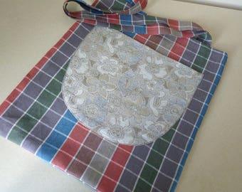 Linen tote bag, Large tote bag, Tote bag with pockets, Beach tote bag