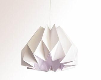 Pumpkin / Origami Paper Lamp Shade - White