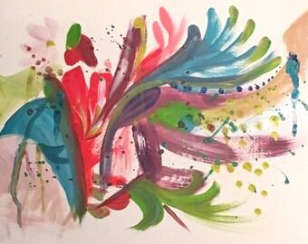 "Beautiful Chaos.. ORIGINAL acrylic painting 12""x18"""